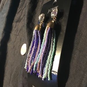 """N 3"""" J Crew Beaded Earrings"""